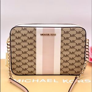 Michael Kors EW Crossbody Bag Powder Blush Multi